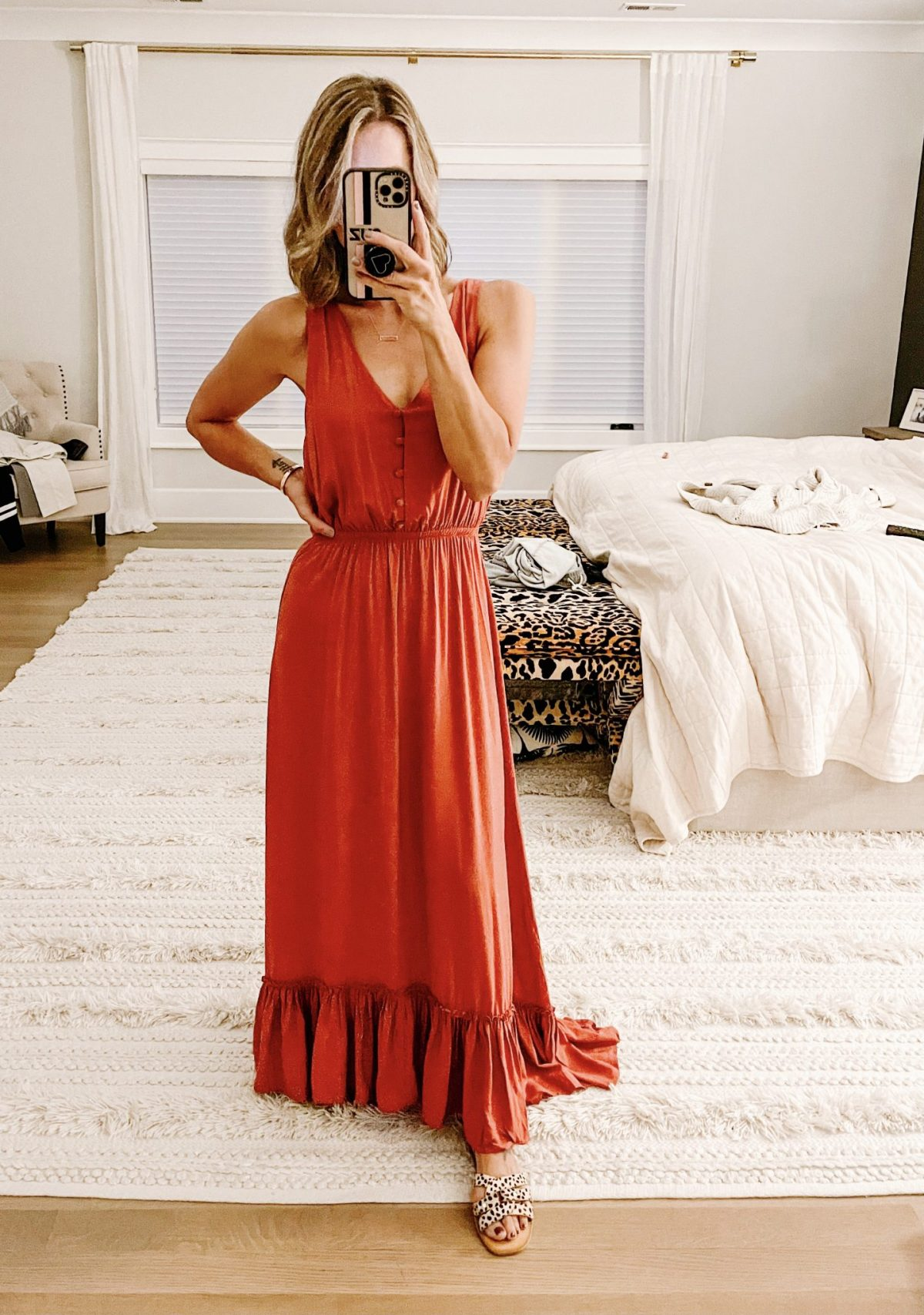 Most loved maxi dress for fall family photos