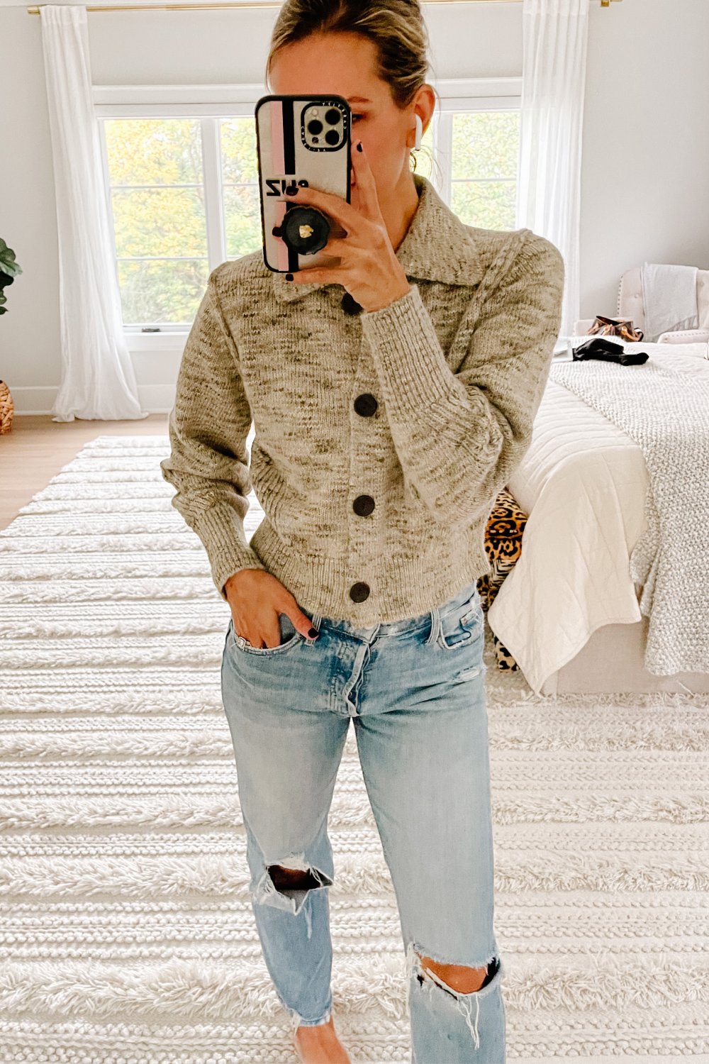 Target button front cardigan